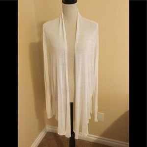 Eileen Fisher hemp creme colored open sweater
